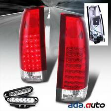1988-1999 Chevy GMC Truck C10 C/K Suburban Tahoe Yukon Red LED Tail Lights G2