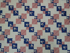 Unfinished Quilt Top-Red White Blue Hello Kitty Kaleidoscope Kite, approx 61x74