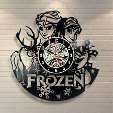 Frozen Elsa Disney Movie Home Decor Wall Art Cosplay Sven Vinyl Record Clock 184