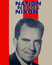 President Richard Nixon Election Poster, 8x10 Color Photo