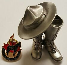 Lot 2 - RCMP Royal Canadian Mounted Police 3D Boots & Hat Challenge Coin & Pin