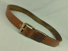 Calvin Klein Jeans Leather Belt CK Buckle Distressed Brown Large 36 38
