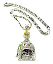 "NEW ICED OUT LIQUOR BOTTLE PIECE WITH 36"" FRANCO CHAIN."