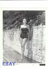 Anne Baxter busty leggy barefoot Vintage Photo
