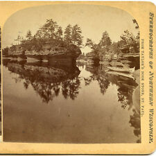 F A TAYLOR HUNTINGTON & BARTRAM  ST PAUL MN STEREOVIEW DALLES WISCONSIN RIVER