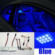 2pcs Bright LED Blue Map Dome light interior Bulbs 12SMD Panel Xenon HID Lamp AA