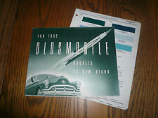 1952 Oldsmobile Sales Brochure with Ditzler Paint Chips Package - OEM 88 98