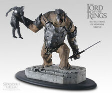 "SIDESHOW Lord of the Rings THE BATTLE TROLL OF MORDOR 9"" Polystone Statue Orc"