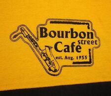 BOURBON STREET CAFE saxophone tee 2XL est 1955 New Orleans jazz T shirt XXL