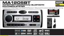 MA1205BT - WATERTIGHT MARINE DVD MULTIMEDIA BLUETOOTH SYSTEM with USB INPUT