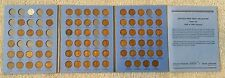 Lincoln Head Cent Collection 1909-1940 Near Complete Whitman Coin Book 74 Coins