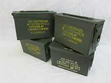 4 Pack 30 Cal Ammo Can Box  Army Military M19A1 Metal Storage 7.62 MM
