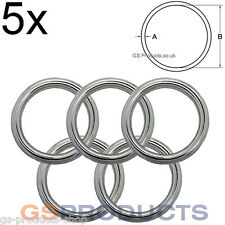5x 10mm x 50mm Stainless Steel Round Ring FREE Postage & Packaging!