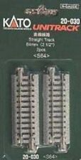"""Kato #20-030 N Scale 64mm (2-1/2"""") Straight UniTrack - 2 sections"""