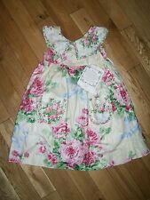 Beautiful Girls Summer Easter Floral Boutique Dress by IN SITCHES Size 4