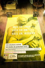 GAY AIDS PROTECTION A 4x6 ft Bus Shelter Original French Advertising Poster 2016