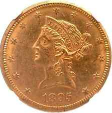 1895-O Liberty Head $10 Gold Eagle - Original Luster, Limited Marks - Ngc Ms 61