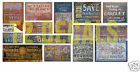 HO Scale Ghost Sign Decals #32 - For Structures & Buildings Lot!