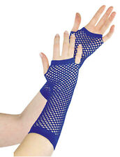 New Ladies Girls Sexy Long Fingerless Fishnet/Lace Gloves 80s--Fancy Dress