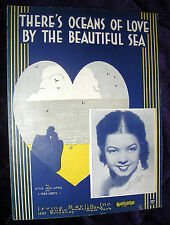 1932 THERE'S OCEANS OF LOVE BY THE BEAUTIFUL SEA Sheet Music FRANCES LANGFORD
