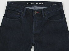 Mens RALPH LAUREN BLACK LABEL Straight Dark Wash Denim Jeans 29W  29L NU COND