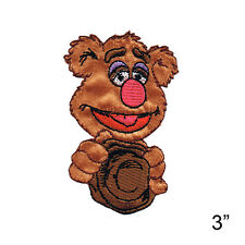 """Fozzy Iron On Patch 3"""" x 2"""" Free Shipping Officially Licensed Muppets Patch 6512"""
