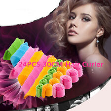 24PCS DIY 30CM Magic Leverag Hair Curlers Tool Styling Rollers Spiral Circle Set