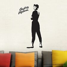 Audrey Hepburn Wall Decal Stickers Decor Easy Removable Vinyl Sticker Standing