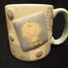 burton + BURTON Baby Boy Relief Design Ceramic Coffee Mug Cup Blue Interior