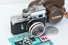 Canon VI-T with Canon 50mm f/1.2 Leica M39 Lens Light Meter and Leather Case