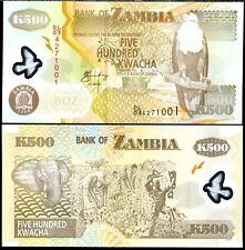 Zambia - 500 Kwacha - UNC polymer currency note - 2011 issue