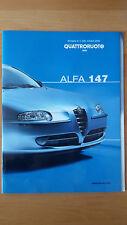 Depliant Brochure Prova ALFA 147 allegato a Quattroruote ottobre 2000  Perfetto