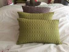 Lot of 3 Gray and Green Decorative Bed Cushions Pillows