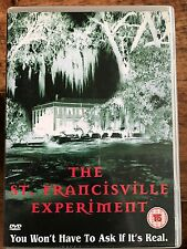 Ryan Larson Paul James ST FRANCISVILLE EXPERIMENT ~ 2000 Cult Horror | UK DVD
