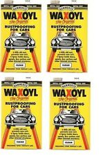 4 X HAMMERITE WAXOYL RUSTPROOFING FOR CARS CLEAR REFILL CAN 5 LITRE - 5092941