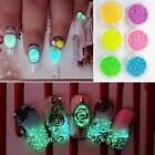Hot Sale!Glitter Luminous Nail Art Sticker Stickers Tips Decoration DIY Manicure