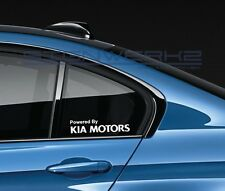 Powered By Kia Motors Decal Sticker logo Korean Soul Optima Sportage Forte Pair