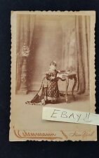 Charles Eisenmann Antique Cabinet Card Photo Midget Henrietta Moritz New York HS