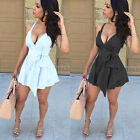 Women Lady Sleeveless Bandage Bodycon Evening Party Cocktail Club Mini Dress #01