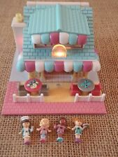 Vintage Polly Pocket Bluebird 1993 Pizzeria Pizza Parlor Complete Figures K1