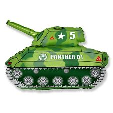 "Panther Tank Army 30"" Foil Balloon Helium or Air Fill Birthday Celebration Party"