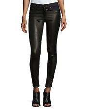 NWT rag & bone/JEAN Hyde Essex Leather & Denim Skinny Jeans Size 27 $ 595