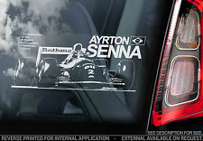 Ayrton Senna - F1 Car Window Sticker - Formula 1 Williams FW16 S - TYP2
