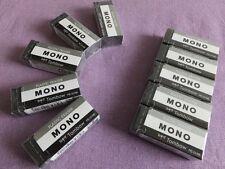 Tombow MONO Black Plastic Erasers 10pcs. Set w43 x d17 x h11mm PE-01AB Free Ship