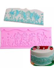 Fairy Border silicone mould/mold cake decorating