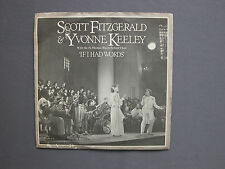 "SG 7"" 45 rpm 1977 SCOTT FITZGERALD YVONNE KEELEY IF I HAD WORDS THIS TIME YEAR"