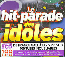 Le hit-parade des idoles : 100 tubes inoubliables de France Gall à Elvis (5 CD)
