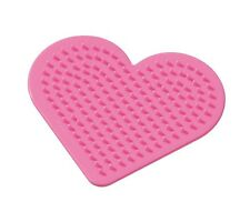 Pegboard 9cm Heart Designs For Hama Beads Plastic Easy Craft Activity Kids