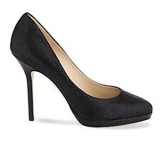 Jimmy Choo 'Ailsa' Small Platform Stiletto Pumps Heels Glitter Black Uk 6 Eu 39