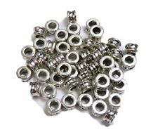 48 Antique Silver Plated Zinc Tube Spacer Beads 6x4mm (3mm Hole)